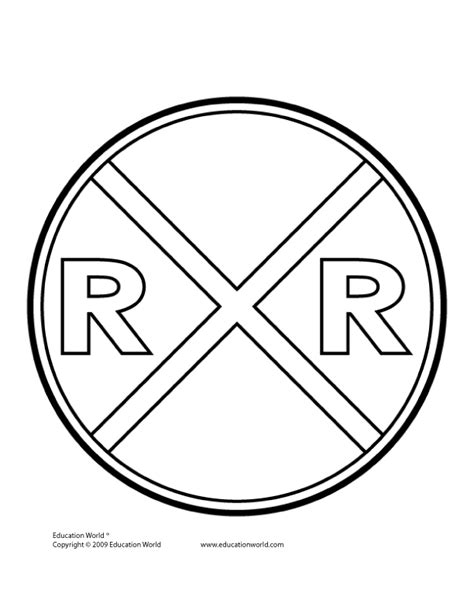 railroad sign coloring page 2nd birthday party