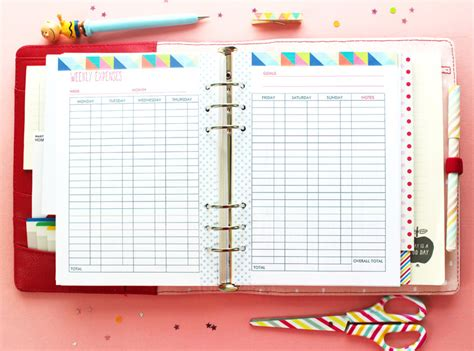 printable daily budget planner blog planner and budget planner printables