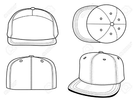 Pin By Becca Ramsey On Art Licensing Product Outline Exles Pinterest Snapback Design Template