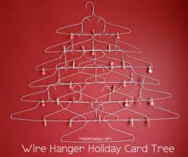 quirky wire hanger holiday card holder 187 made in a day