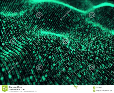 digital information waves of digital information stock photo image 52000042