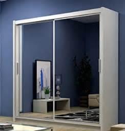 white mirror sliding wardrobe free standing shelving and