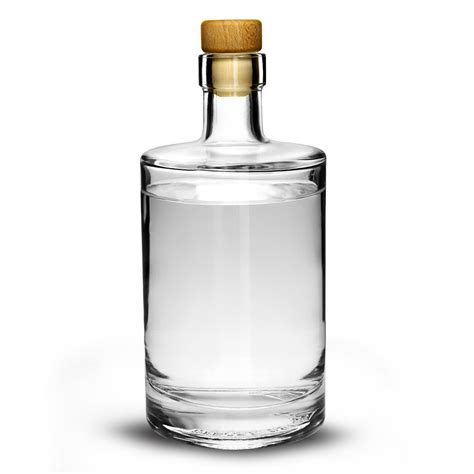 Glass Bottles galileo flint glass bottle with cork lid 17 6oz 500ml