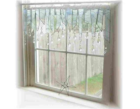 Curtains For Picture Windows april showers stained glass window treatment valance