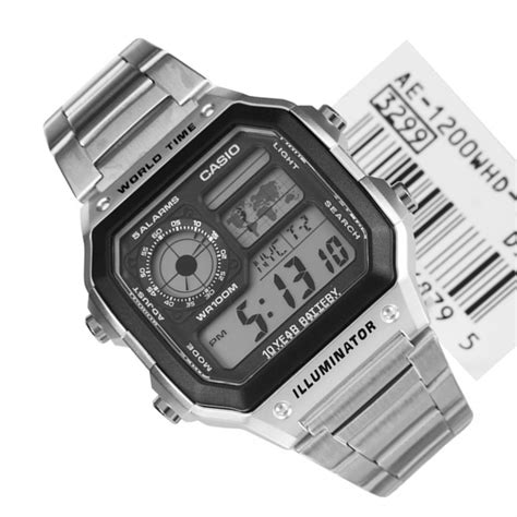 casio digitale casio quartz digital ae 1200whd 1avdf