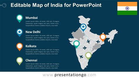 india map ppt template india editable powerpoint map presentationgo
