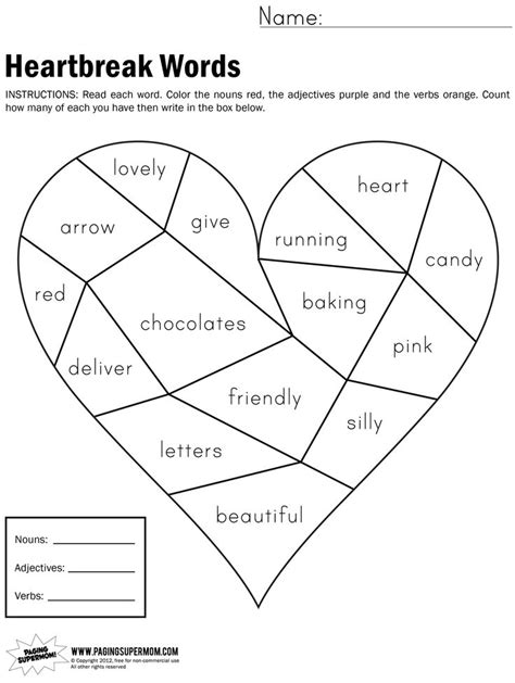 valentines day adjectives 13 best images of adjective coloring worksheet adjective