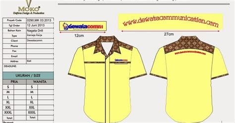 Tshirtbajukaos Pemadam Rescue konveksi semarang moko baju seragam kantor kombinasi batik dewata communication gianyar