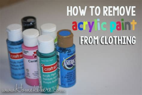 acrylic paint how to remove from clothes how to remove acrylic paint from clothing best crafts on