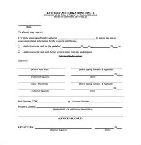 letter of authorization form 18 samples examples