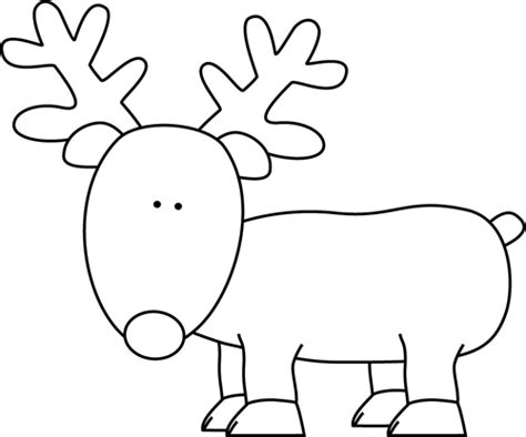 and white reindeer clip art black and white outline of a