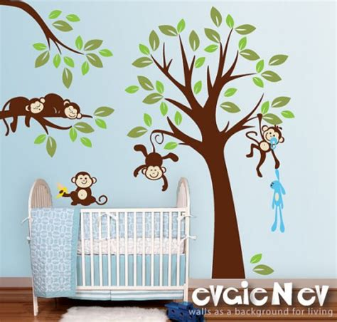Evgienev Wall Decal 100 Gift Certificate Giveaway Monkey Nursery Wall Decals