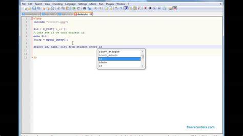 tutorial php mysql youtube tutorial 4 display data from mysql database into html