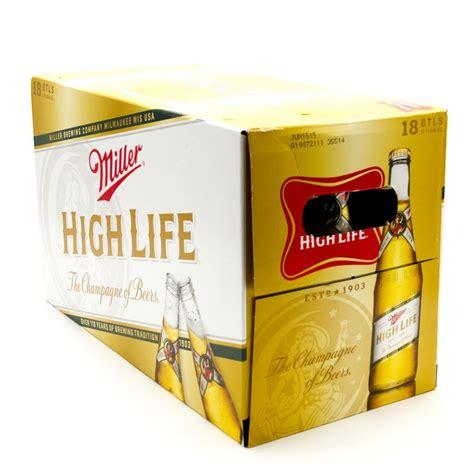 Miller High Lite by Miller High 12oz Bottle 18 Pack Wine