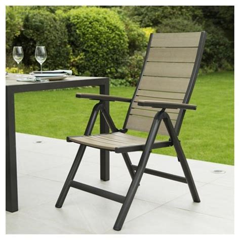 reclining garden chairs tesco coastal 2 pack reclining wood aluminium garden chairs