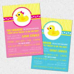 rubber duckyduck baby shower invitation printable