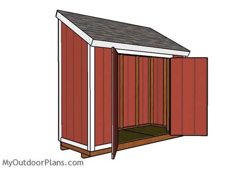 4 X 10 Shed Plans by 4x10 Lean To Shed Roof Plans Myoutdoorplans Free