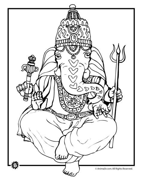 coloring pages indian elephant ganesha indian elephant coloring page woo jr kids