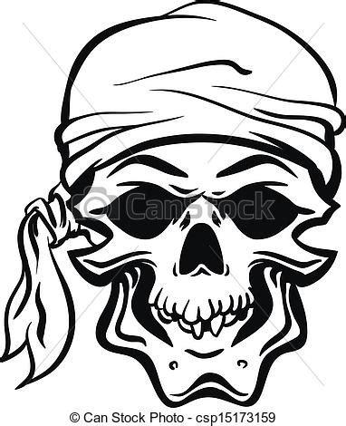 clipart vektor von pirat totensch 228 del hand gezeichnet
