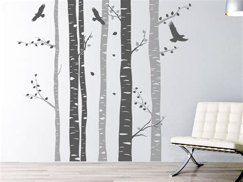 wandtattoo kinderzimmer birke wandtattoo birkenwald aus st 228 mmen wandtattoos mehrfarbige