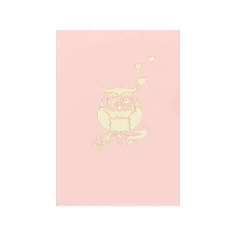 valentine owl greeting card wholesale pop up cards