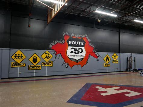 crossfit graffiti mural  route  gym ohio graffiti usa