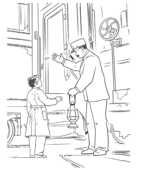 Coloring Pages Of Quot Polar Train Express Quot Polar Express Color Pages