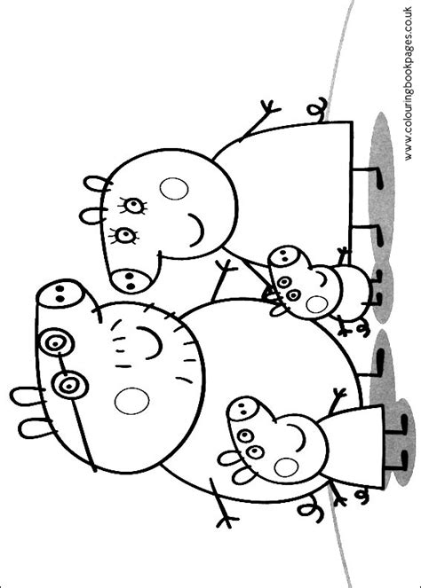 peppa pig coloring pages a4 peppa pig family coloring pages