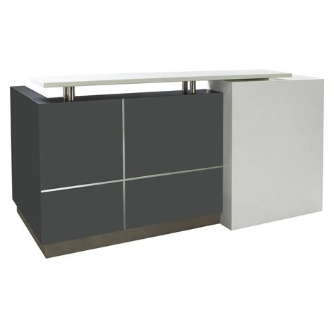 Grey Reception Desk Gosit Reception Desk Gray And White National Office Interiors And Liquidators