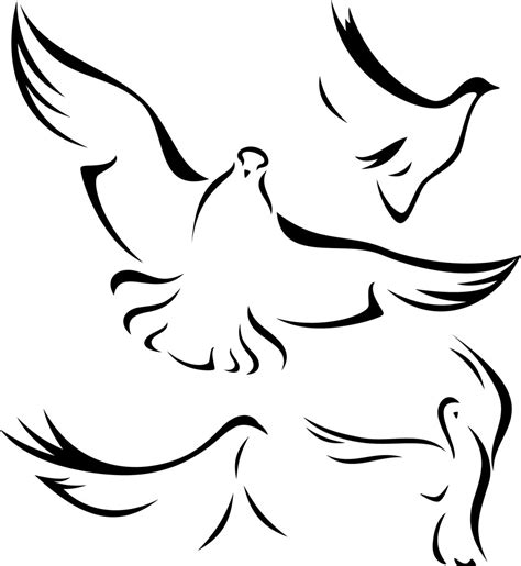 Holy Spirit Dove Outline by Doves Outline Cake Ideas And Designs