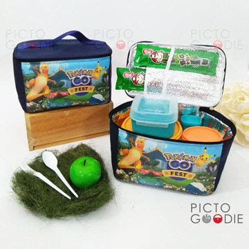 Souvenir Tote Lunch Bagtas Anak tas lunch bag memanjang souvenir ultah anak surabaya jakarta pictogoodie