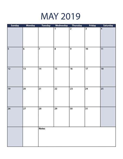 may calendar template may 2019 calendar template