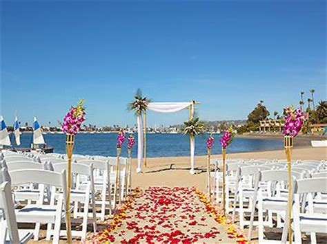 best wedding hotels in southern california bahia resort hotel southern california weddings san diego wedding venues 92109