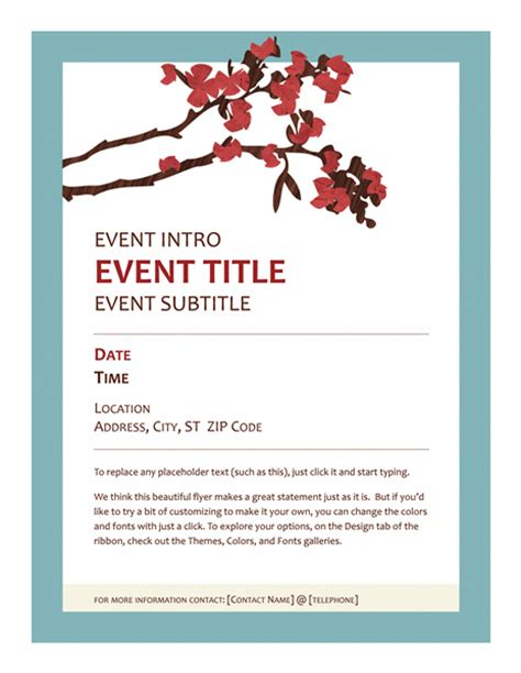 free event flyer templates word event flyer office templates