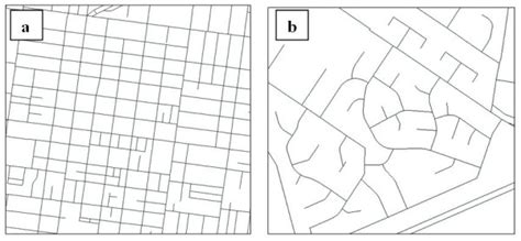 grid pattern streets comparison of environments with a a grid street pattern