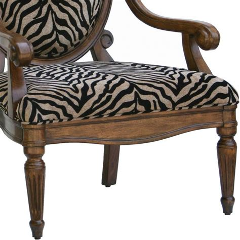Zebra Print Accent Chair And Black Zebra Print Chenille Accent Chair Dcg Stores