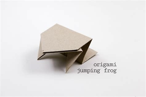 leaping frog origami origami jumping frog tutorial