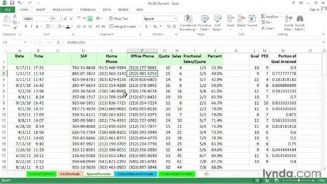 excel format zip code setting special formats for dates times phone numbers
