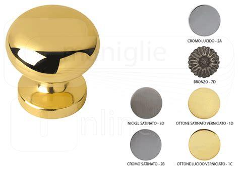 pomello porta blindata pomello per porta in ottone vienna fisso diametro 64 mm