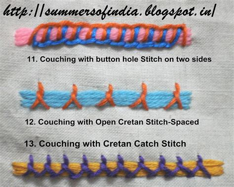 couching stitch embroidery summersofindia couching stitches 1