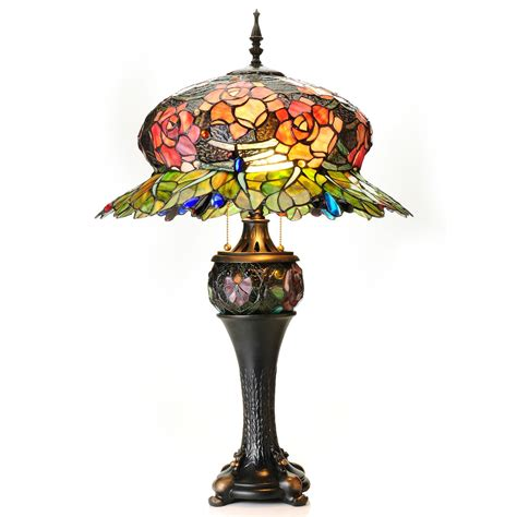 stained glass desk l stained glass l roses best inspiration for