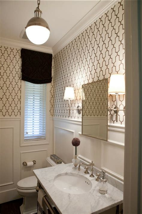 Wallpaper In Bathroom Ideas by 50 Modern Wallpaper Pattern Functional Facilities For
