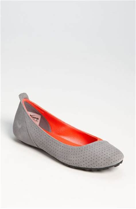 flat shoes nike nike amarina ballerina flat in gray charcoal brght