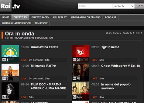 www diretta it su mobile guardare la tv in diretta su android iphone windows 10 e