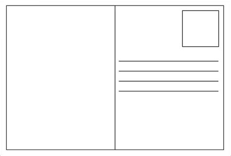 free blank postcard template for word free postcard templates peerpex