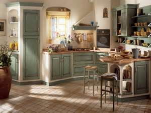 Country Green Kitchen Cabinets by Kitchen In The Country House Style Discover The Coziness