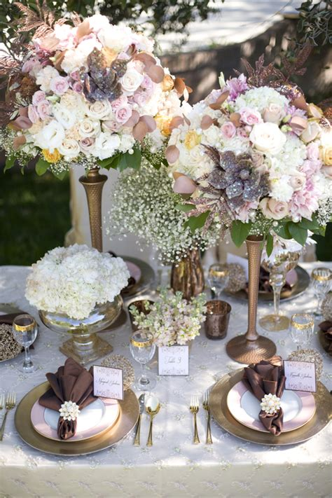 wedding tablescapes elegant chic copper fall wedding tablescape elizabeth