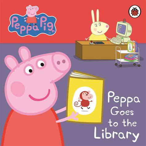 peppa pig peppa goes peppa pig board book peppa goes to the library books