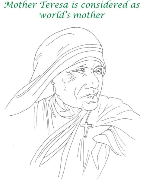 free mother teresa coloring pages