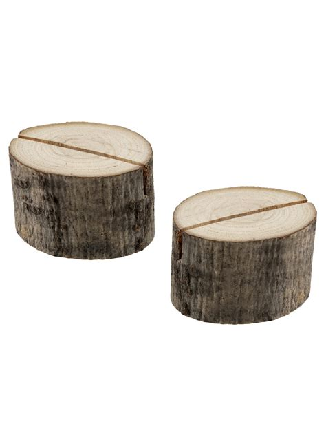 di legno 2 segnaposto rondelle di legno su vegaooparty negozio di
